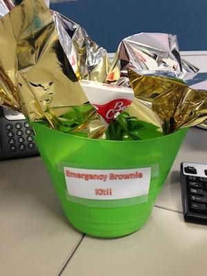 Emergency Brownie Kit DIY Gift Basket