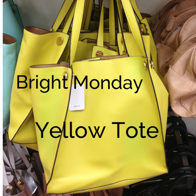 Bright Monday Yellow Tote