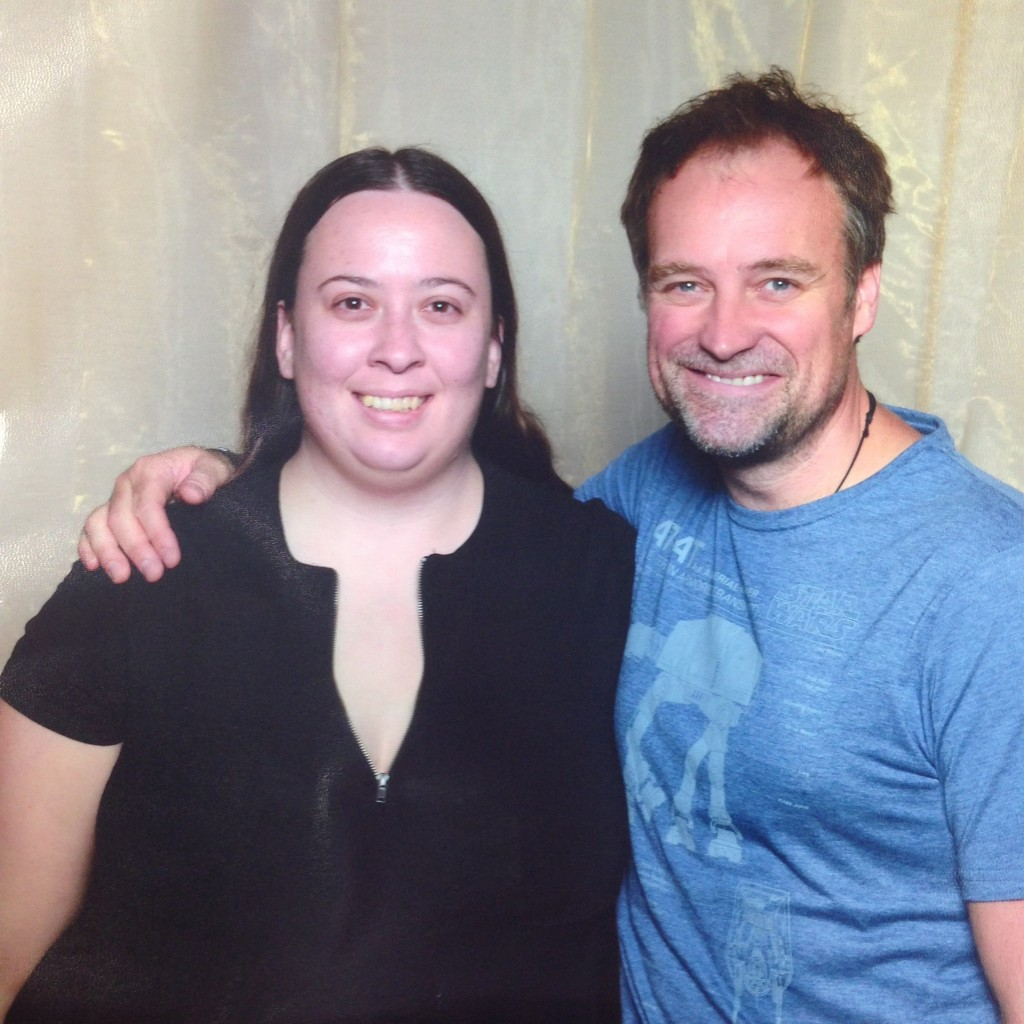 David Hewlett and I at Oz Comic-Con Brisbane in 2015