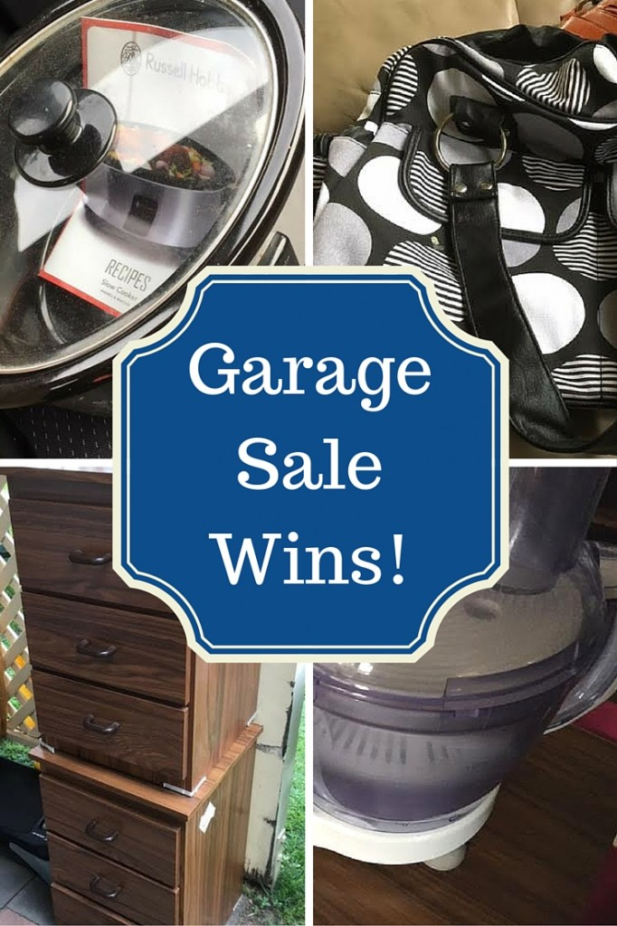Garage Sale Wins - How one morning of visiting garage sales and $27 got me two appliances, some furniture and a bag!