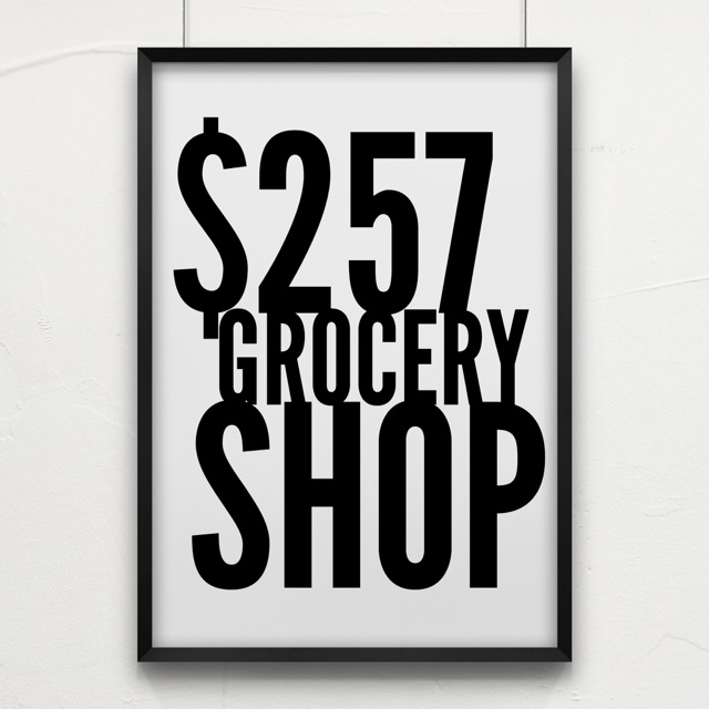 $257 Grocery Shop for a fortnight - including Christmas!