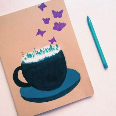 Imagination Painted Moleskin Journal