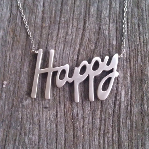 Raven and Wren Happy Necklace