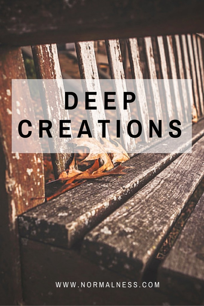 Deep Creations - What level of creative writing do you really do as a blogger?