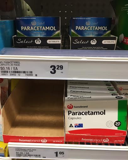 Paracetamol Price at Woolies