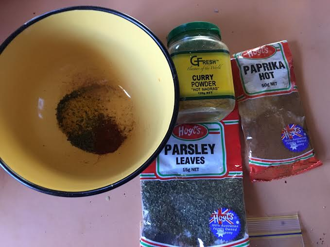 Spices used in the Chex mix