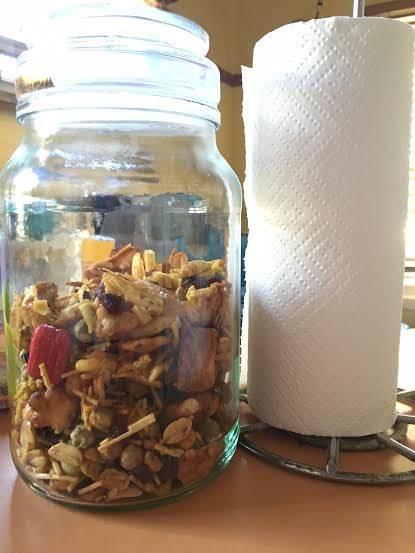 Completed DIY chex mix
