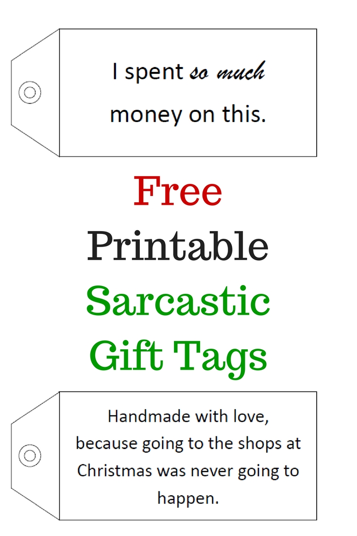 Free printable sarcastic gift tags normal ness negle Gallery