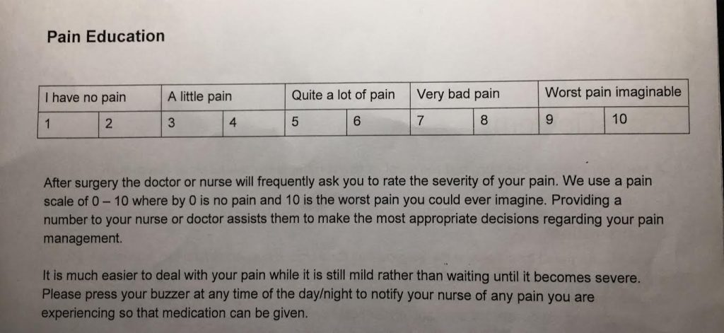 Hospital Pain Education