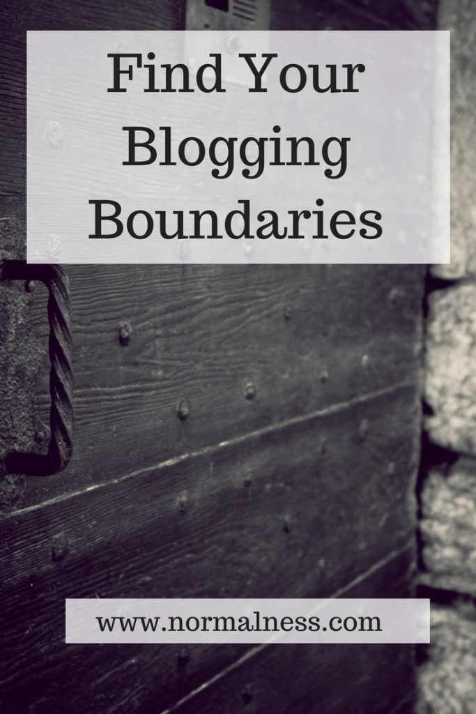 Find Your Blogging Boundaries