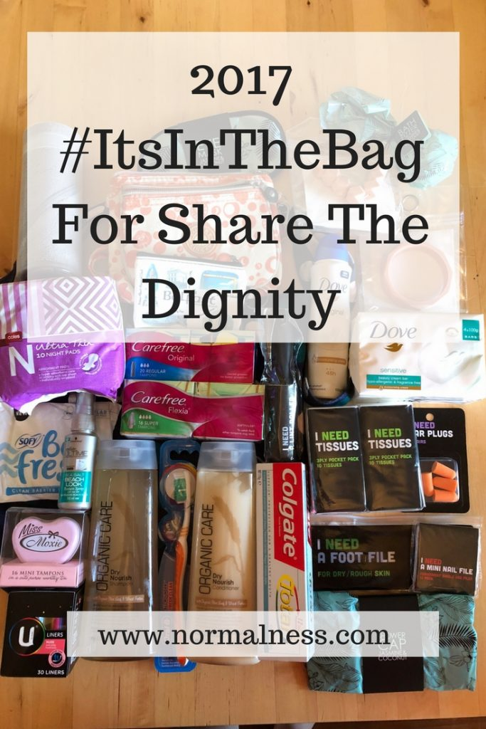 2017 #ItsInTheBag For Share The Dignity