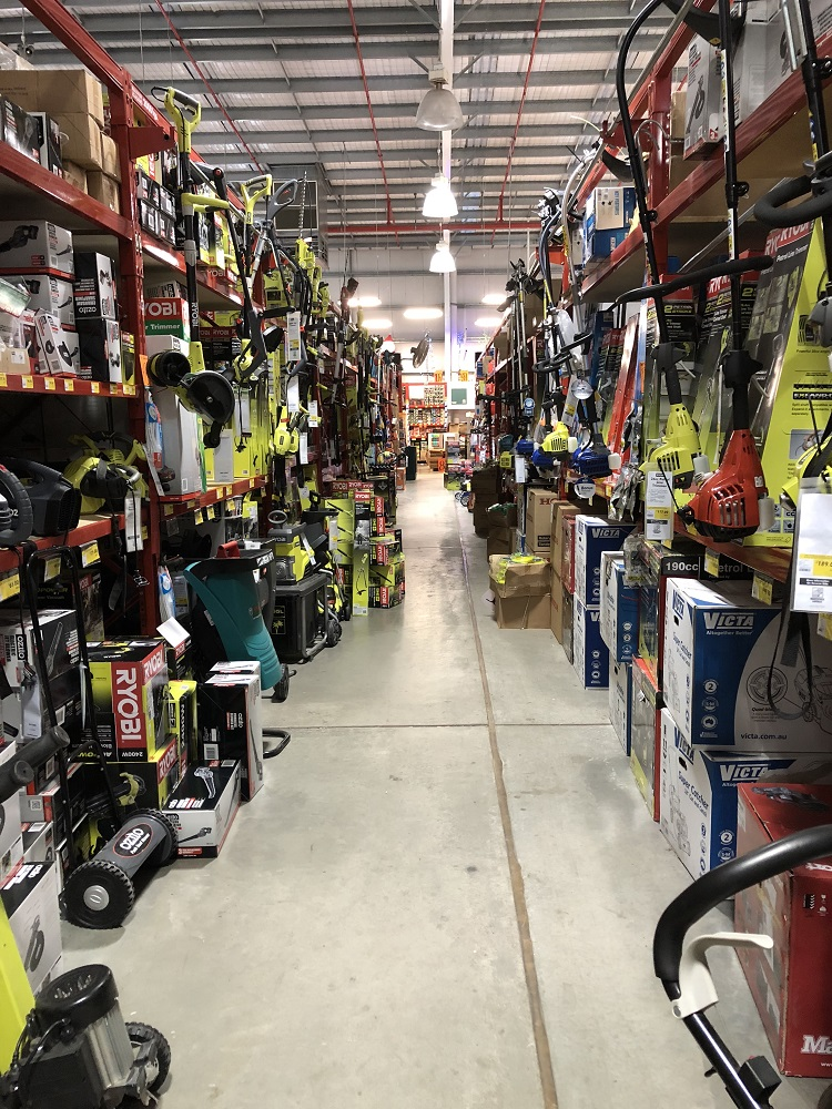 Bunnings Mower Aisle