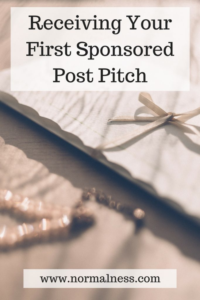 Receiving Your First Sponsored Post Pitch