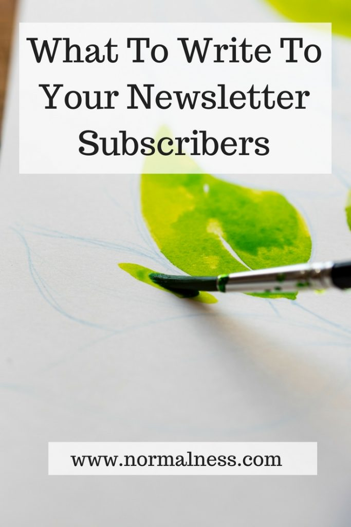 What To Write To Your Newsletter Subscribers