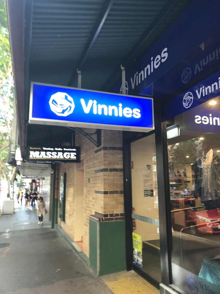 Vinnies Brisbane CBD Op Shop Exterior