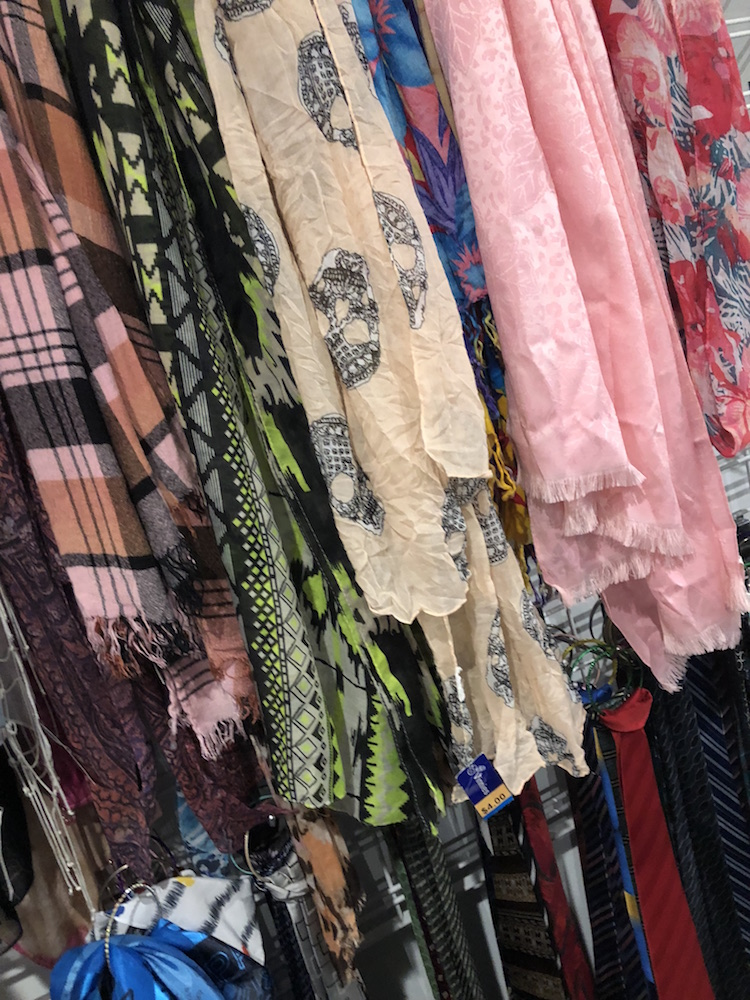 Vinnies Brisbane CBD Op Shop Scarves