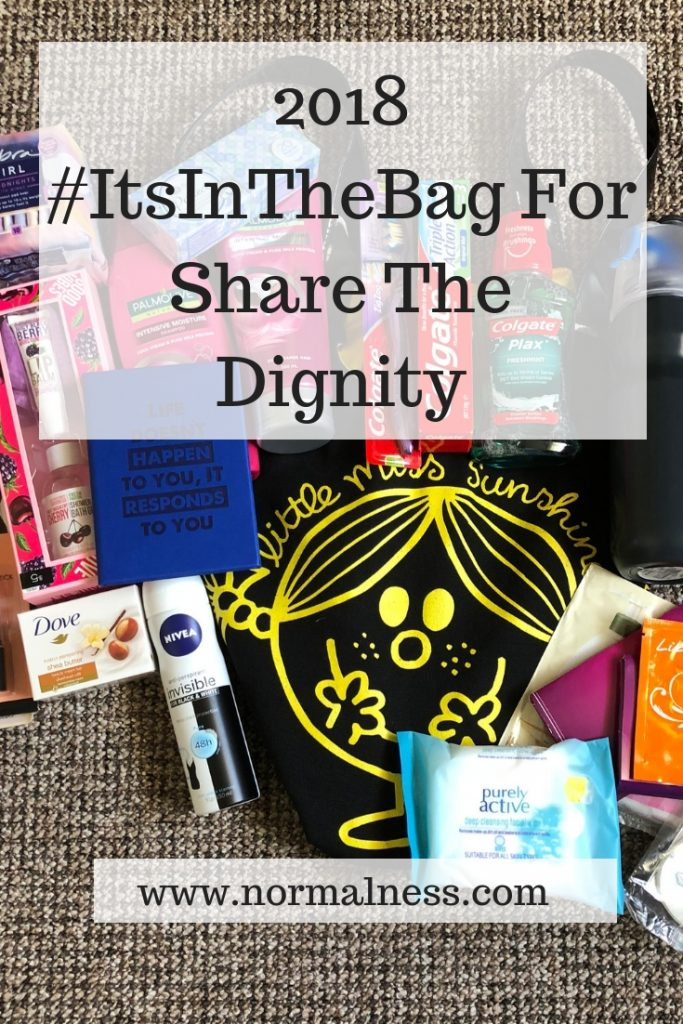 2018 #ItsInTheBag For Share The Dignity