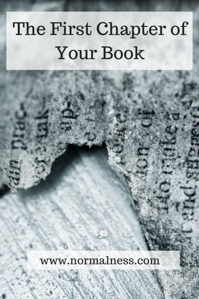 The First Chapter of Your Book