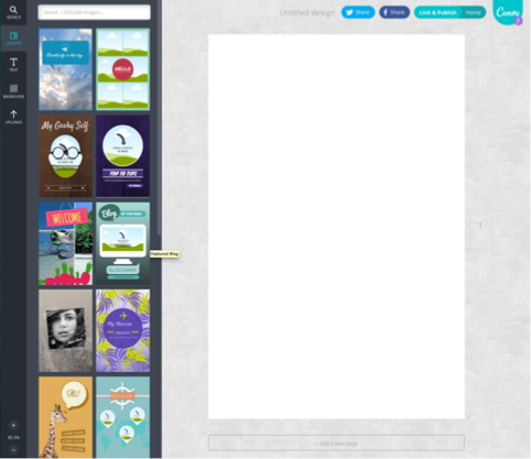 Canva blank canvas