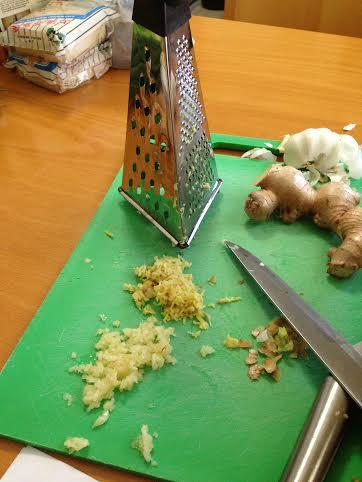 ginger and garlic for dumplings