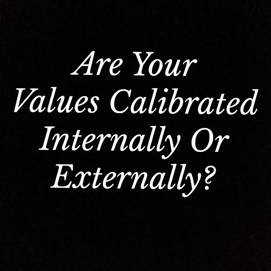 Are your values calibrated internally or externally?
