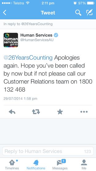 Human Services Tweet