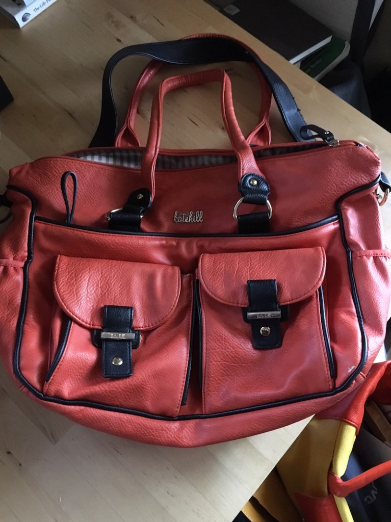 Kate Hill overnight bag flat